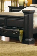 Drawer Storage in Footboard