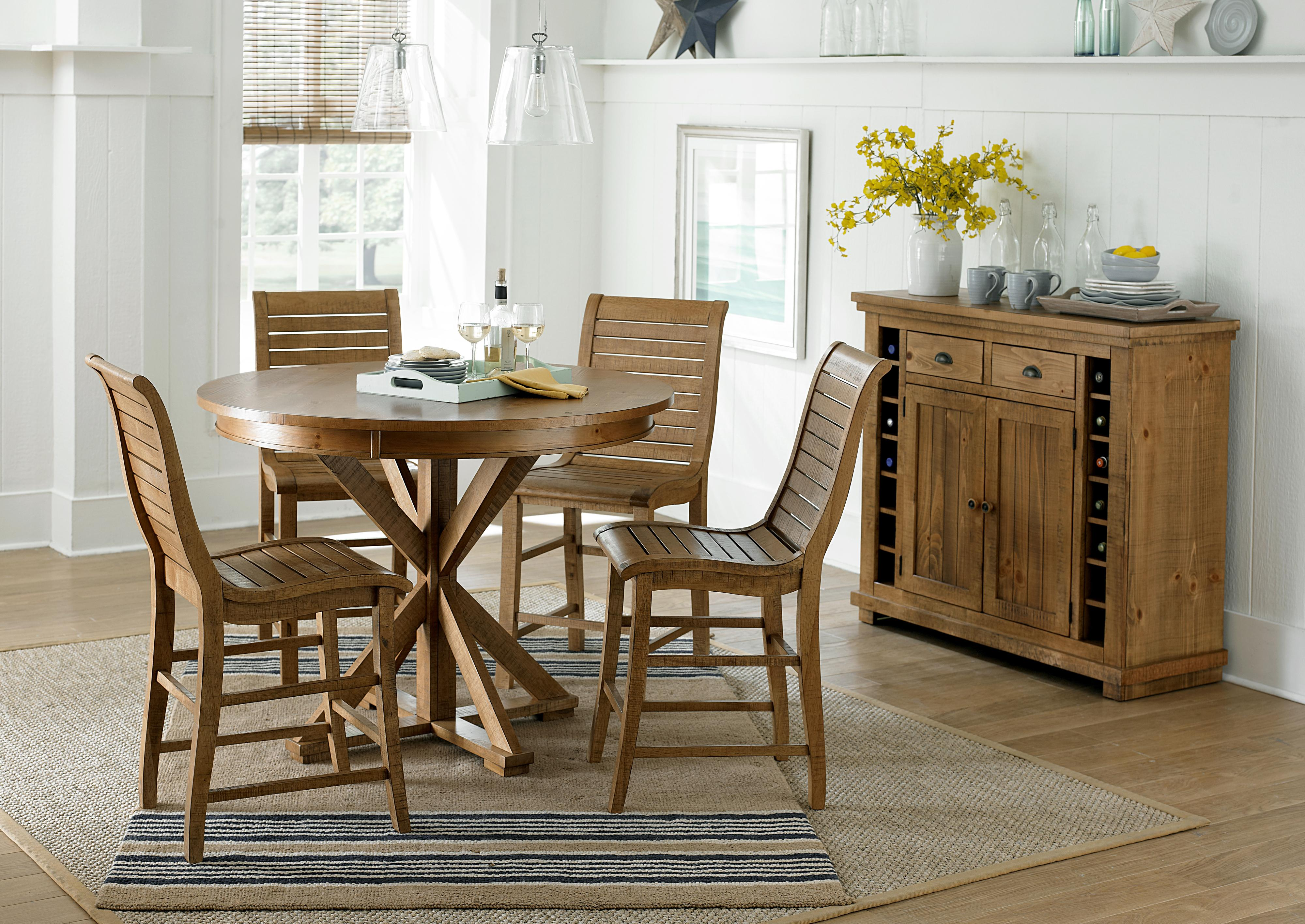 Incroyable Progressive Furniture Willow Dining Distressed Finish Rectangular Counter  Height Table With 2 Shelves | Wayside Furniture | Pub Tables