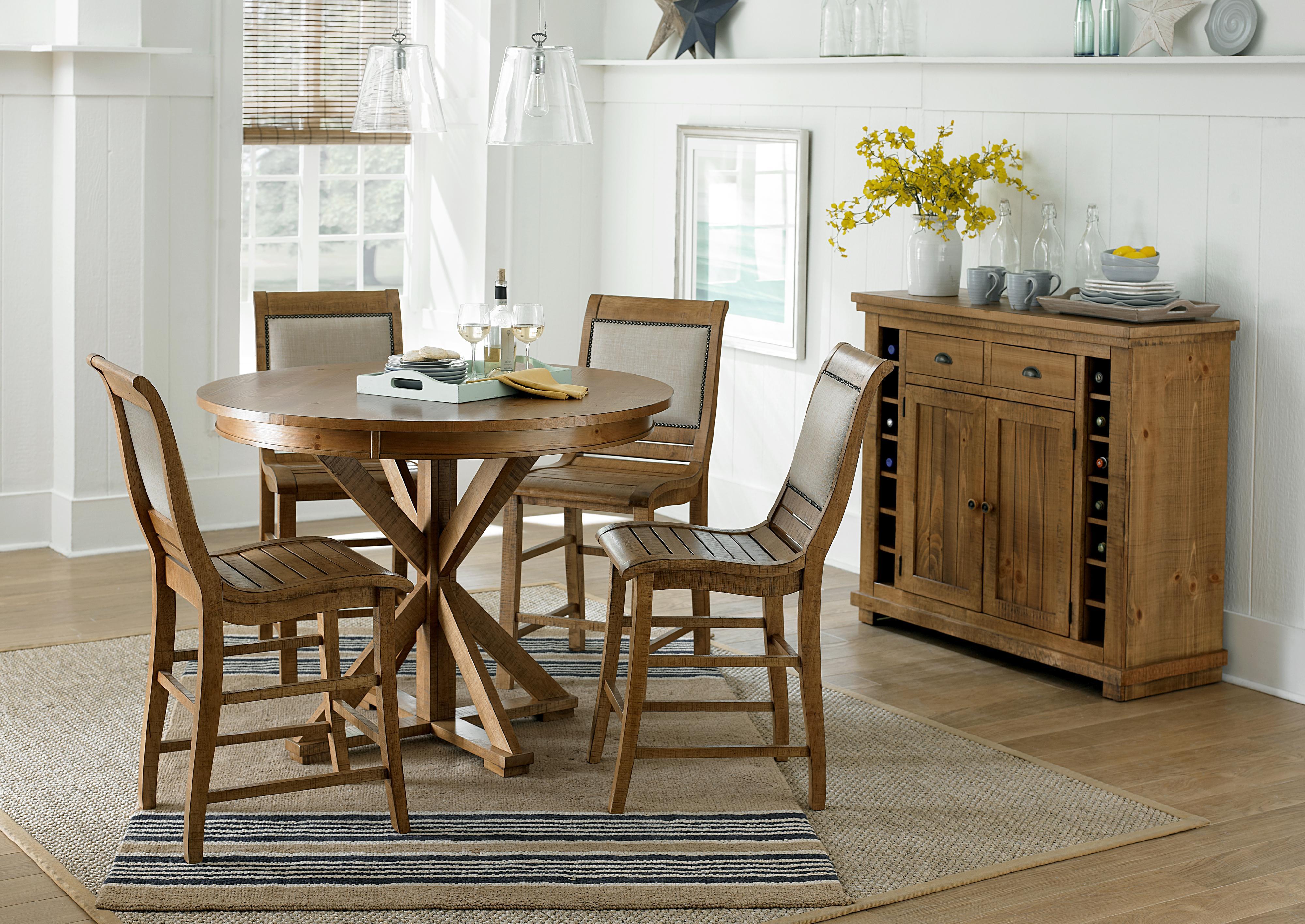 Progressive Furniture Willow Dining Distressed Finish Rectangular ...