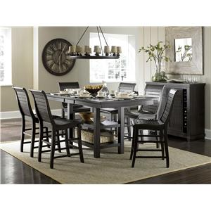 progressive furniture willow dining distressed finish rectangular