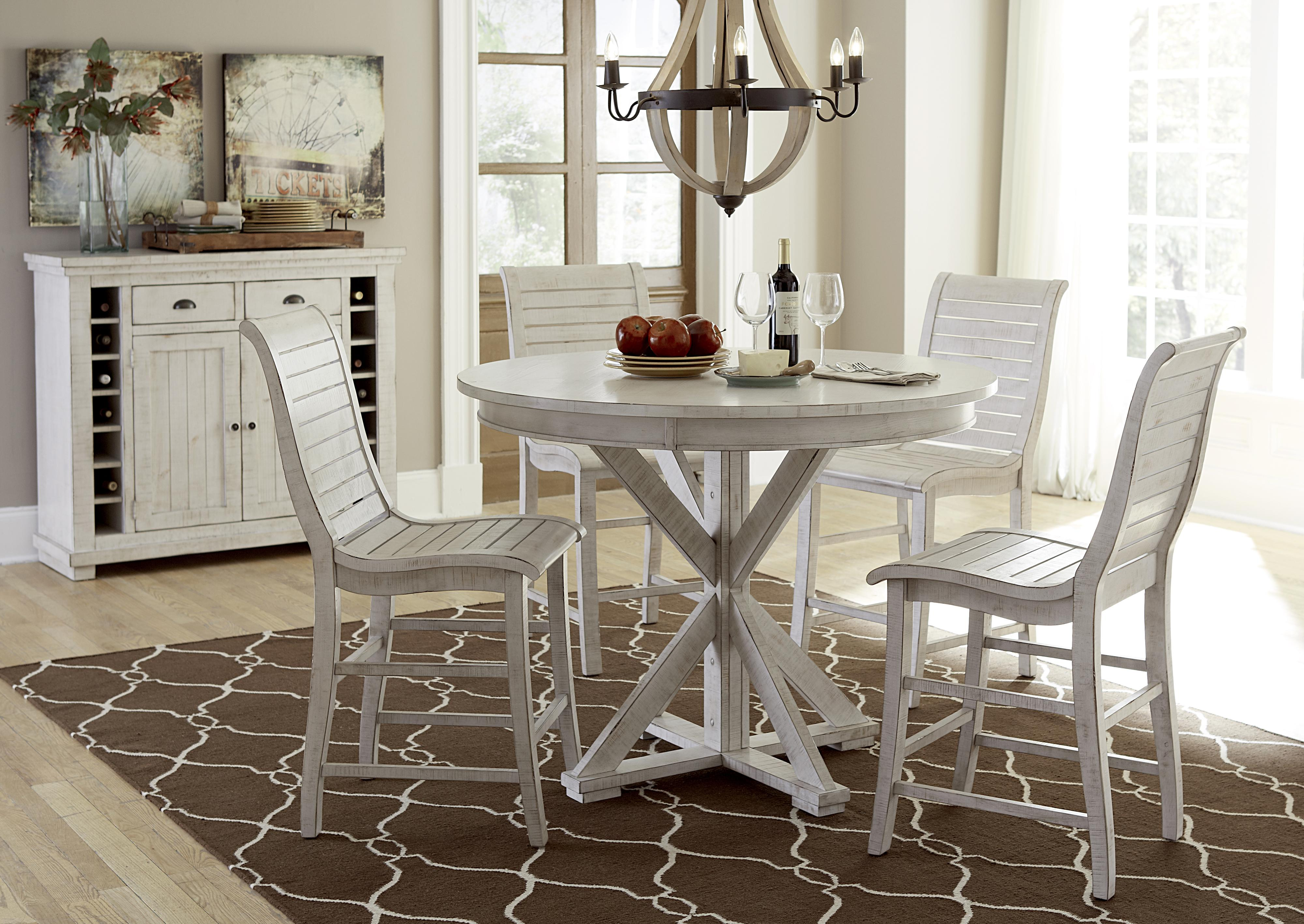 Progressive Furniture Willow Dining 5 Piece Round Counter Height Table Set Northeast Factory Direct Pub And Stool Sets Cleveland Eastlake
