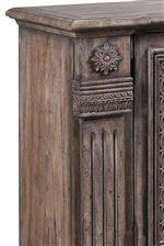 Carvings in Woodwork with Reeded Pilaster & Rosette Details Bring a Charming Look to Each Piece