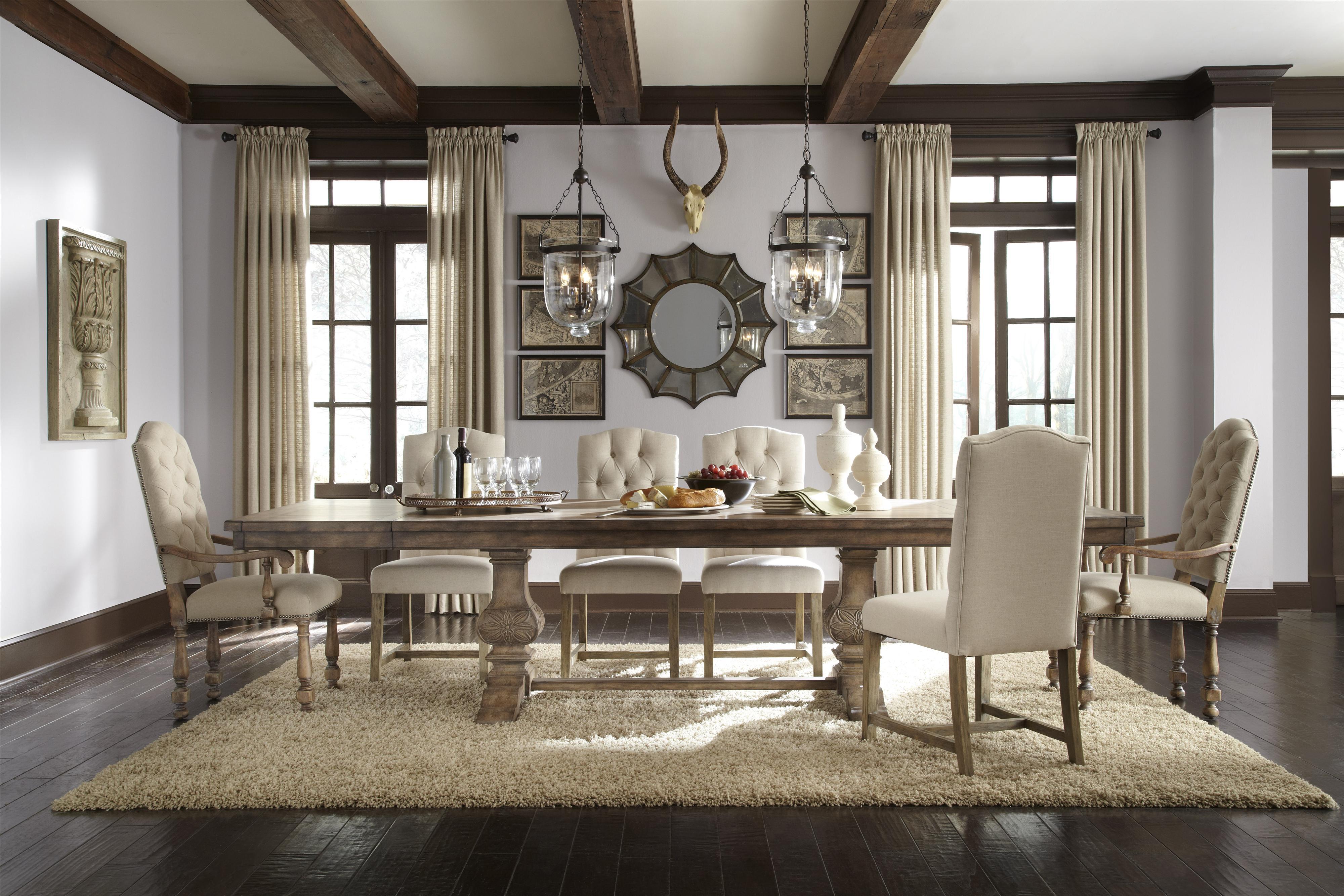pulaski furniture accentrics home danae arm chair with cream linen