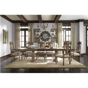 Pulaski Furniture Accentrics Home 3 Piece Daphne Table & Anthousa Side Chair Set