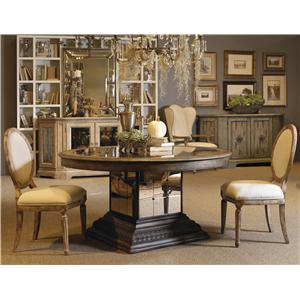 Pulaski Furniture Accentrics Home 3 Piece Aphrodite Table & Anthousa Side Chair