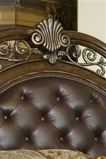 Upholstered and Tufted Headboard with Nailhead Trim