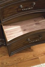 Cedar Lined Dresser Drawers