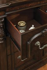 Felt Lining in Top Drawers