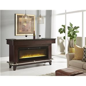 Pulaski Furniture Evo Black Granite Bar w/ Electric Fireplace