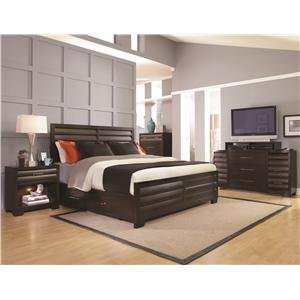 Pulaski Furniture Tangerine  King Bedroom Group