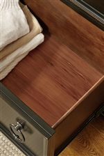 Bottom Drawers Lined in Cedar