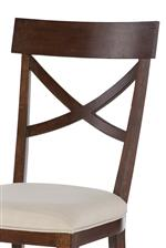 X-Back Side Chair with Upholstered Seat