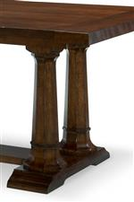 Trestle Dining Table Double Pedestal Base