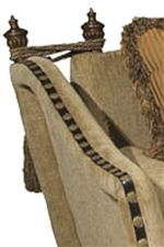 Exposed Wood, Nail Head Trim and Ropes and Tassels Add Classic Accents to Traditional Styled Furniture