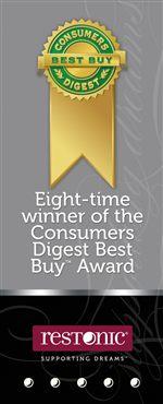 Restonic ComfortCare Select Kingston Queen Euro Top Plush Mattress and Foundation