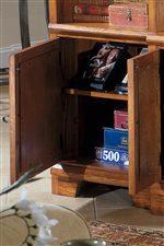 Entertainment console cabinet door