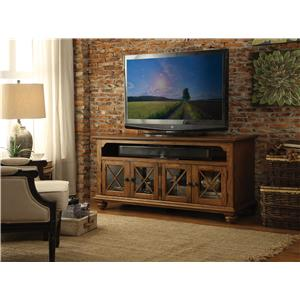 Riverside Furniture Allegheny  TV Wall Unit w/ Lit Piers