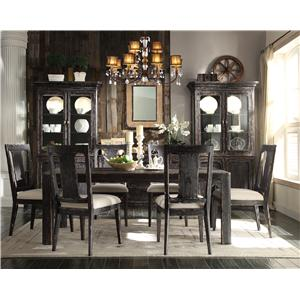 Riverside Furniture Bellagio Distressed Round End Table