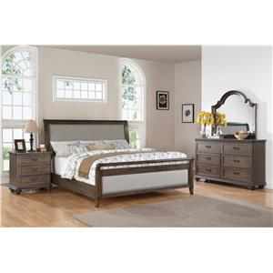 Riverside Furniture Belmeade King Arch Panel Bed