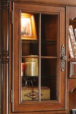 Framed Glass Door Featuring Adjustable Shelves With Plate Groove and Accent Light