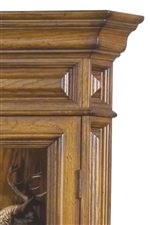 Paneled Side and Top Accented with Bold Top Moulding