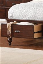 Footboard with Storage Option