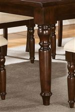 Dining Table with Traditional Turned Legs