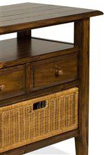 Select Pieces Include Removable Wicker Baskets for Stylish Storage Options