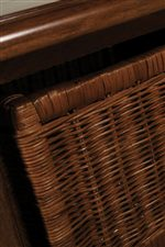 Wicker Basket Detail Shown