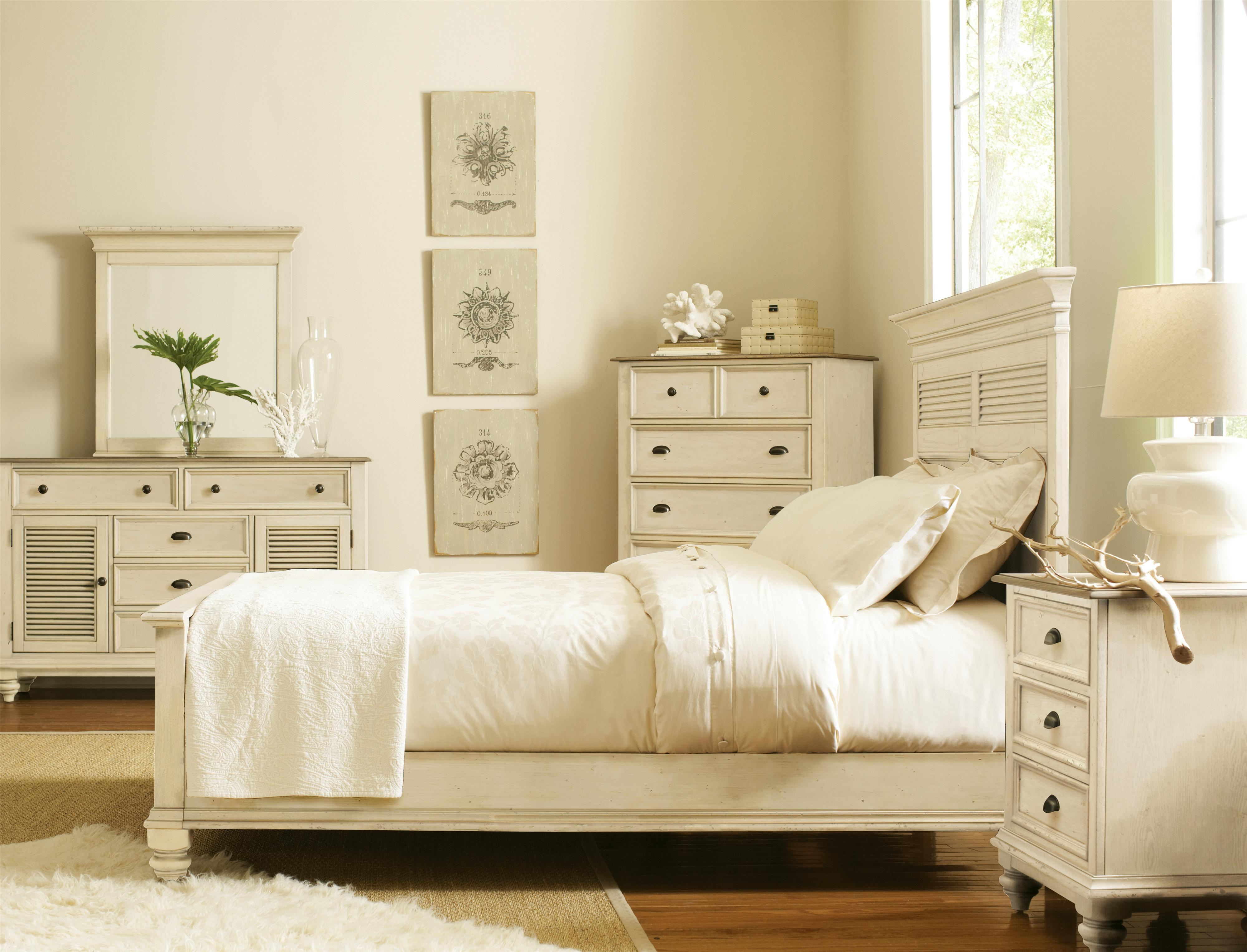 Riverside Furniture Coventry Two Tone California King Bedroom Group - Item Number: 32500 C K Bedroom Group 14