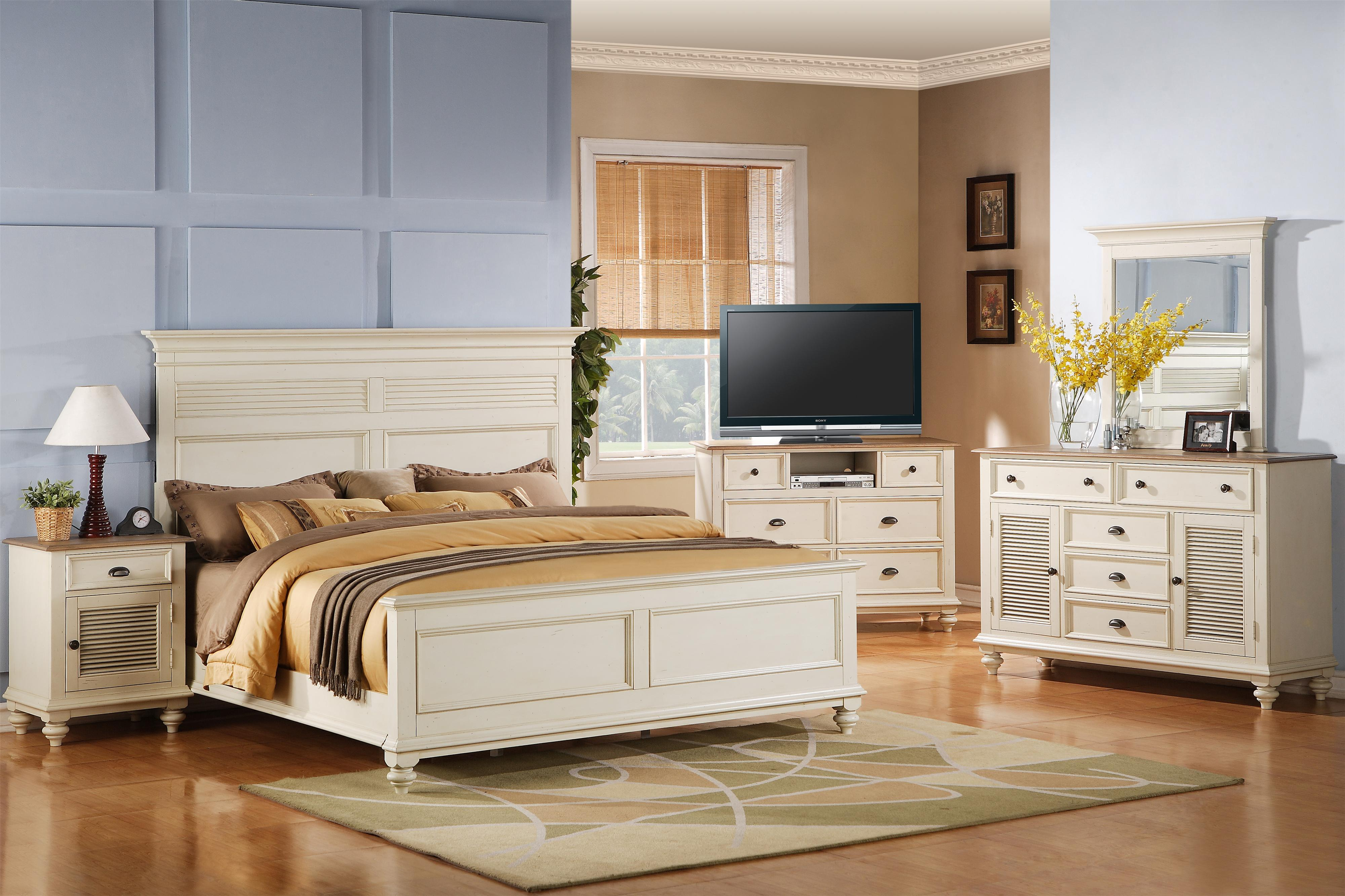 Riverside Furniture Coventry Two Tone Full/Queen Bedroom Group - Item Number: 32500 F Q Bedroom Group 16