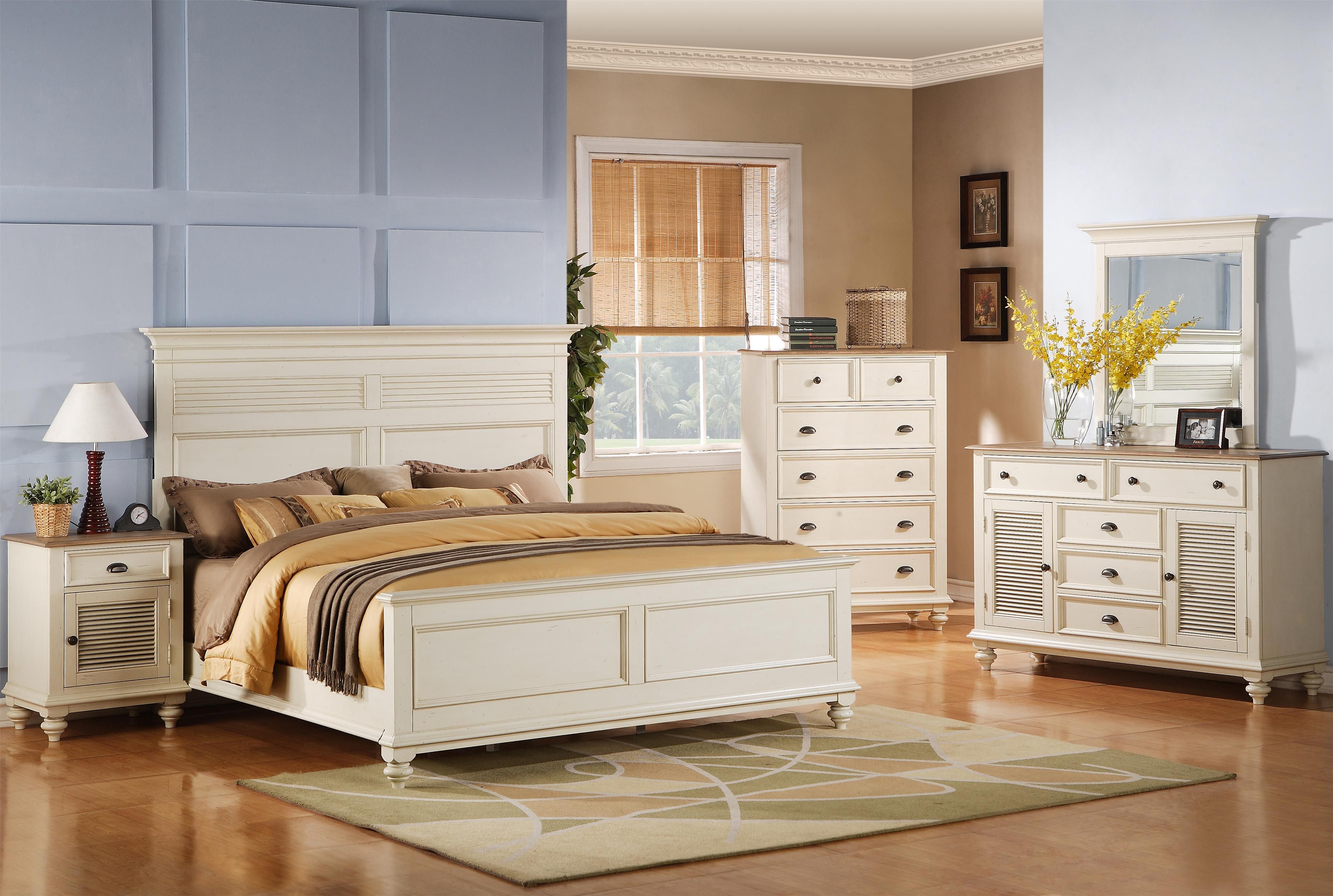 Riverside Furniture Coventry Two Tone King Bedroom Group - Item Number: 32500 K Bedroom Group 17