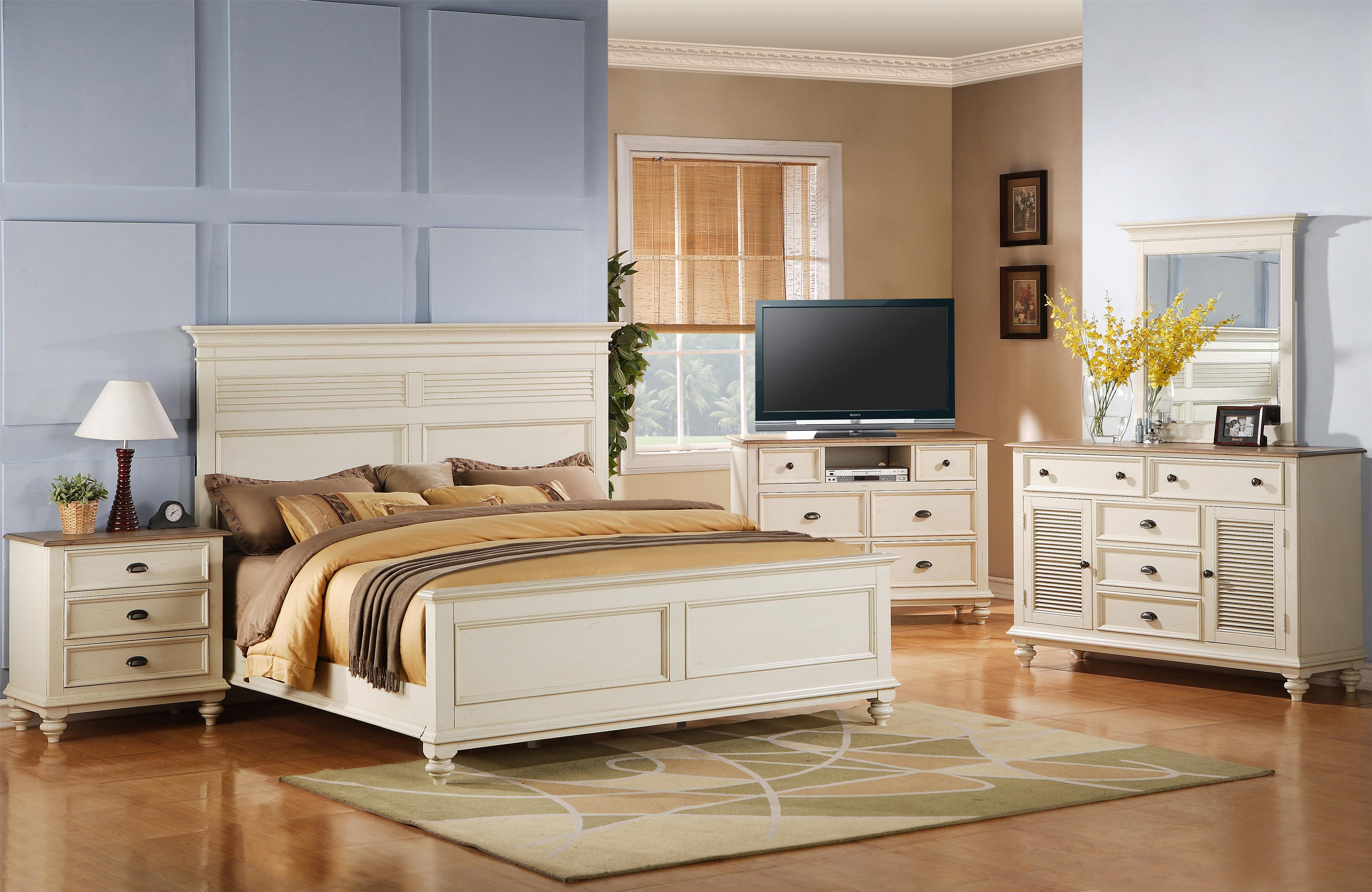 Riverside Furniture Coventry Two Tone Full/Queen Bedroom Group - Item Number: 32500 F Q Bedroom Group 19
