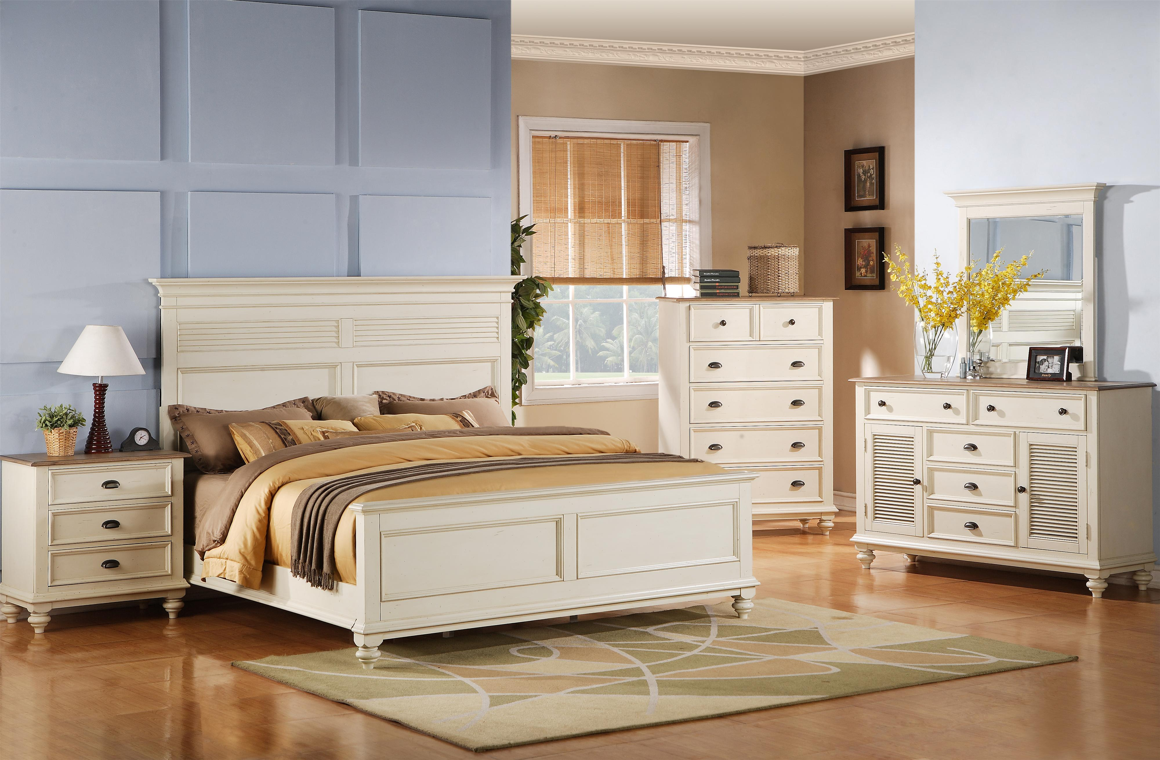 Riverside Furniture Coventry Two Tone Full/Queen Bedroom Group   Item  Number: 32500 F Q