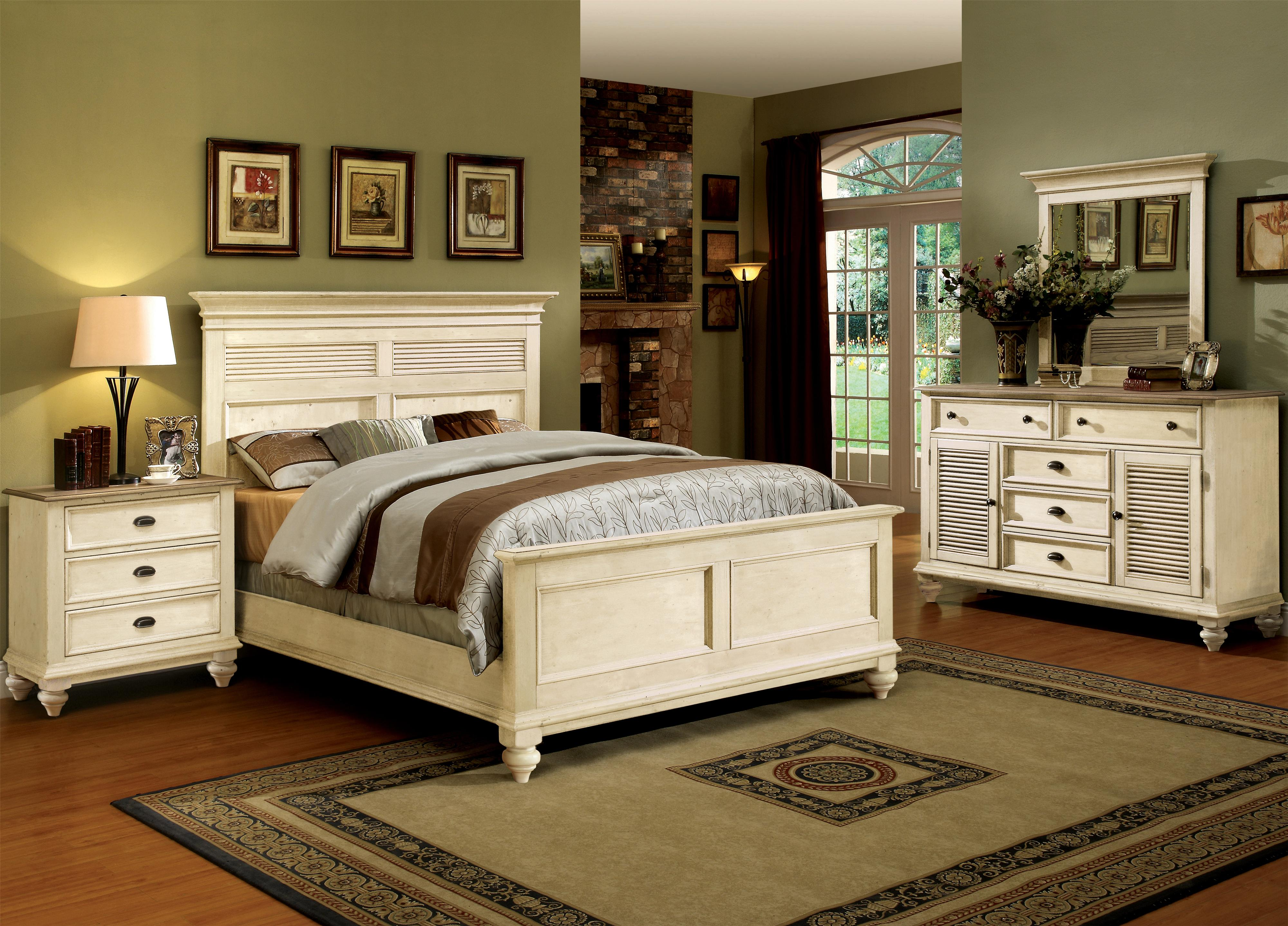 Riverside Furniture Coventry Two Tone Full/Queen Bedroom Group - Item Number: 32500 F Q Bedroom Group 22