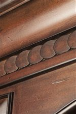 Woodwork Features Beautiful Carved Details for Visual Depth and Dimension