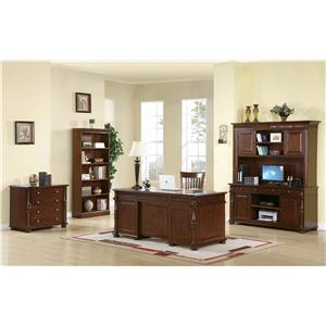 Riverside Furniture Dunmore Corner TV Console with 2 Beveled Glass Doors and Wiring Access