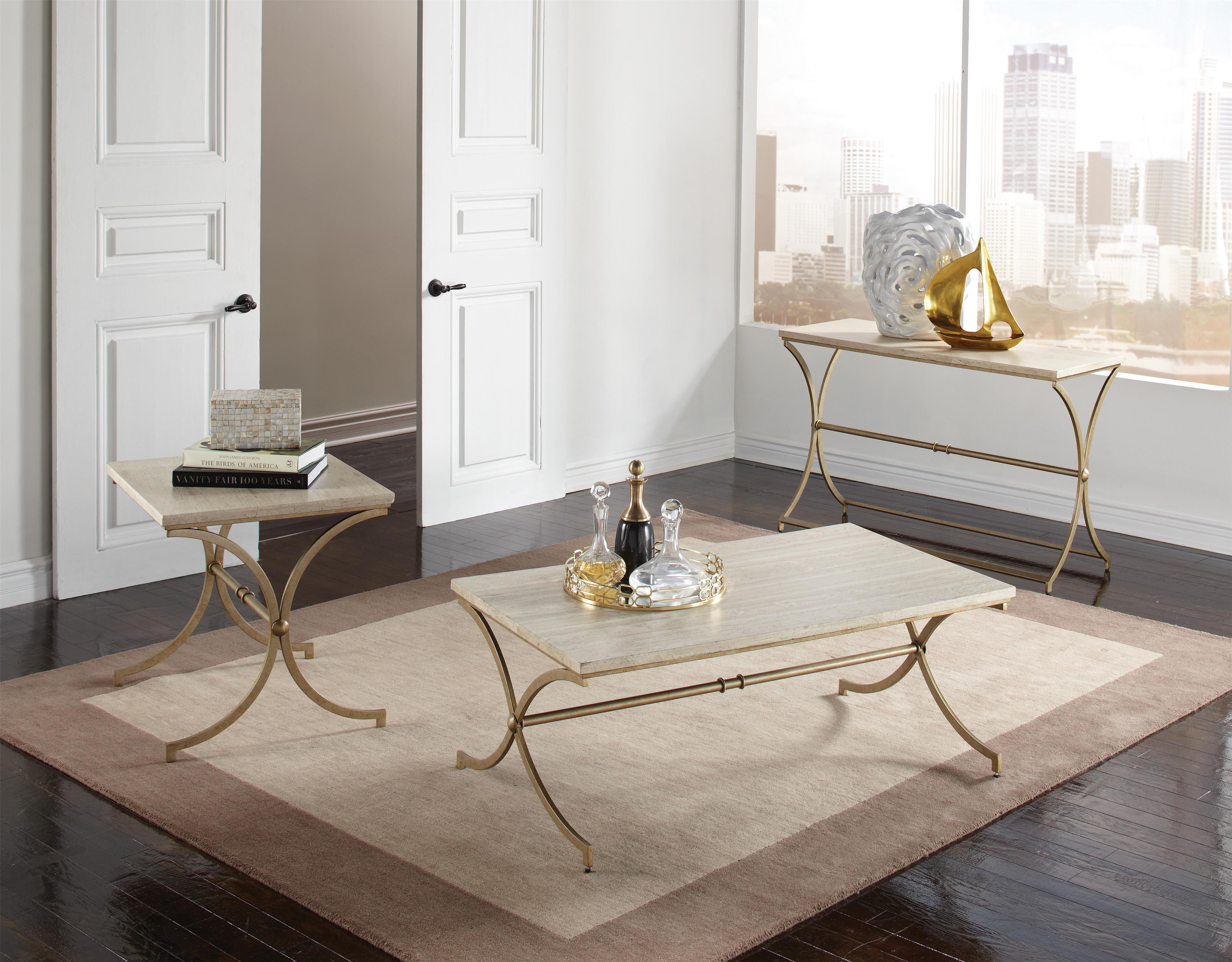 riverside furniture elan travertine coffee table wayside