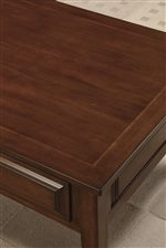 Smooth and Durable Burnished Cherry Table Tops
