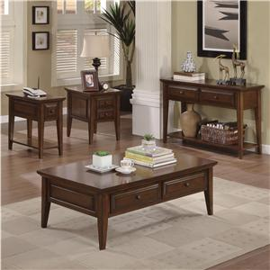 Riverside Furniture Hilborne Casual 2 Drawer Coffee Table