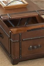 Plentiful Storage Options Provided with Drawers, Shelves & Lift-Tops