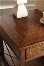 Table Tops Feature Pretty Decorative Diamond Box Veneer Pattern