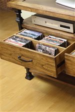 Media Storage in Console Table