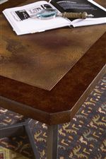 Table Tops Feature Beautiful Authentic, Weathered Copper Finishes