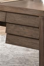 Some Drawers Feature Louvered Fronts