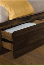 Storage Bed Features Drawers in the Rails