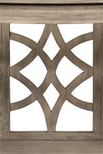 Decorative Pattern on Paneling and Shelves
