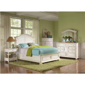 Riverside Furniture Placid Cove Queen Louver Bed