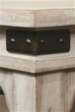 Rustic Metal Accents Featured Throughout Collection