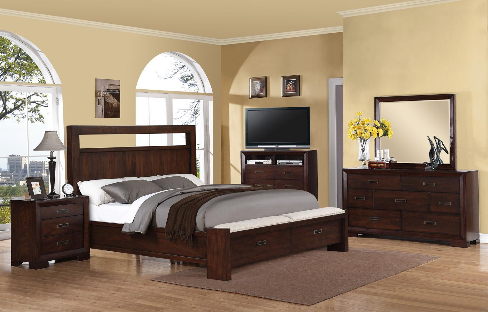 Riverside Furniture Riata Queen Panel Bed w/ Storage | Wayside ...